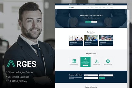Arges | Corporate & Business HTML5 Template