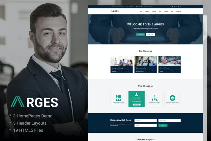 Cover Image For Arges | Corporate & Business HTML5 Template