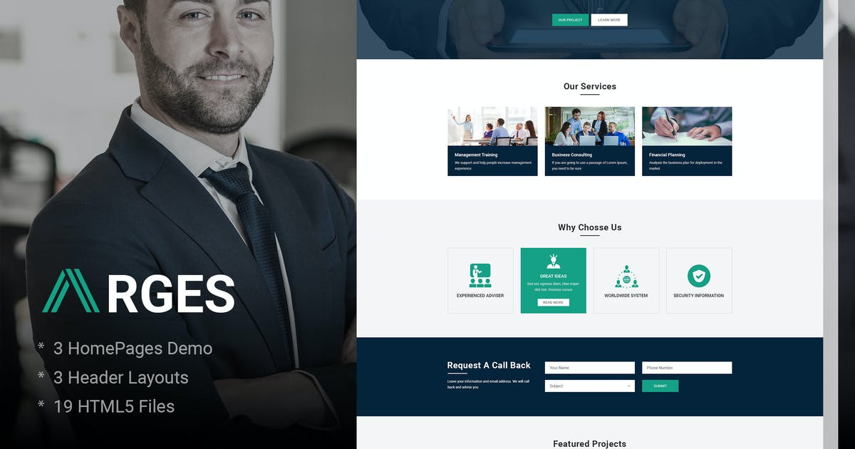 Download Arges   Corporate & Business HTML5 Template by AuThemes