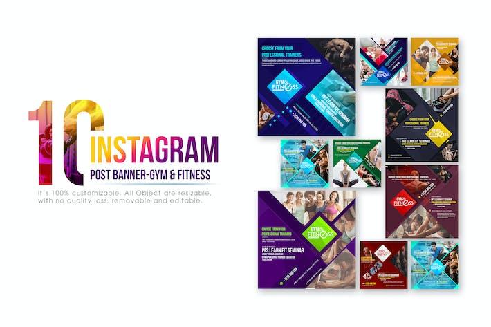 Thumbnail for 10 bannières Instagram Post - Fitness & Gym