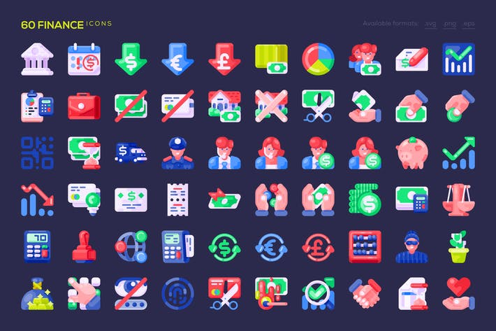 Thumbnail for 60 Finance Icons
