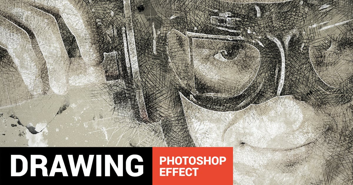 Download Portretum - Sketch Drawing Photoshop Action by profactions