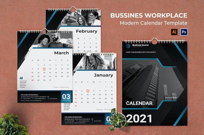 Business Workplace Calendar Portrait