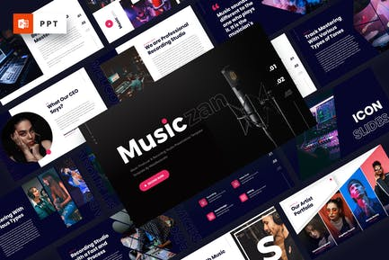 Musiczan - Music Producer Powerpoint Template