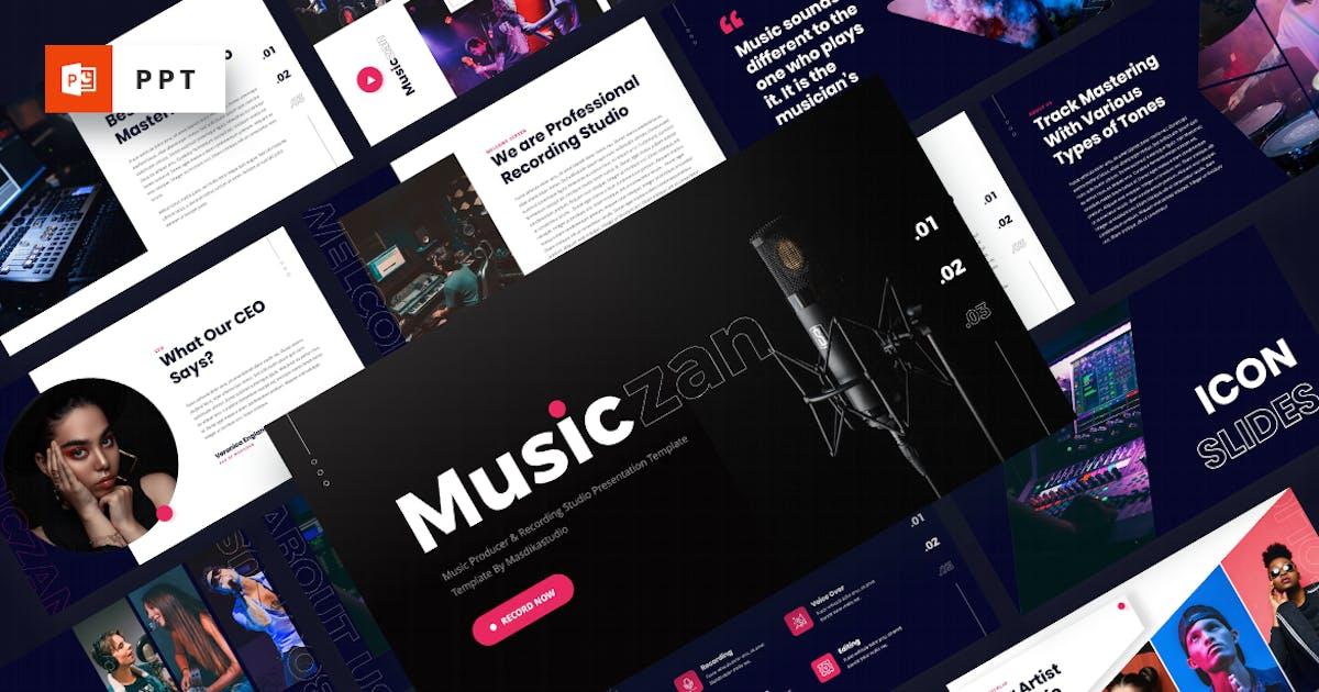 Download Musiczan - Music Producer Powerpoint Template by MasdikaStudio