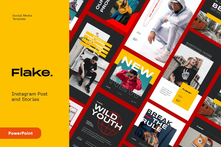 Thumbnail for FLAKE - Instagram пост и истории Powerpoint