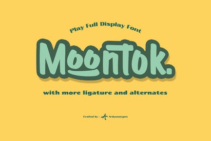 Moontok - Play Full Display Font