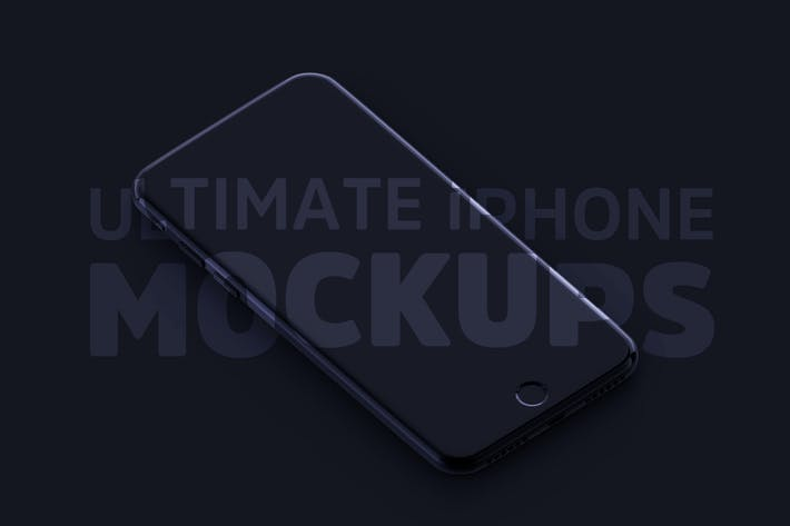Thumbnail for Ultimate B&W iPhone Mockups PSD