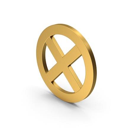 Symbol X Mark Gold
