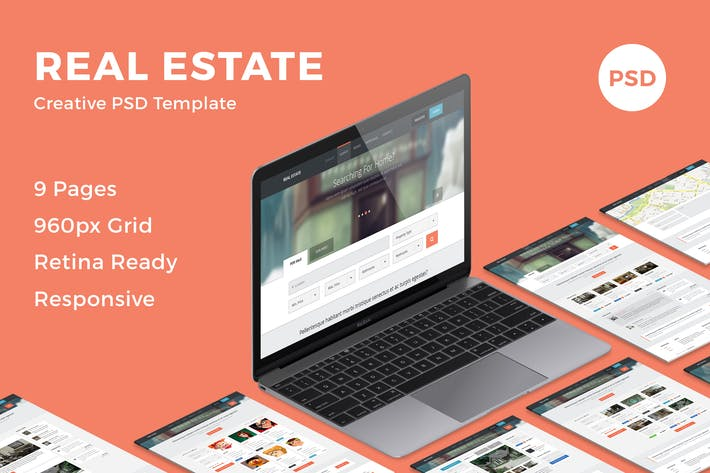 Thumbnail for Real Estate - Creative PSD Template