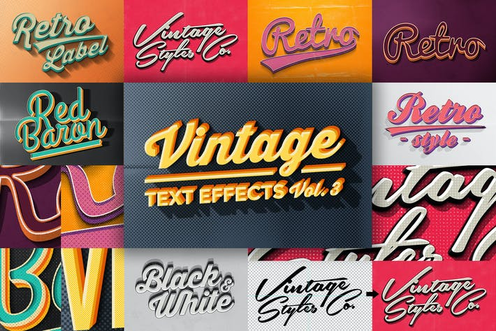 Thumbnail for Vintage Text Effects Vol.3