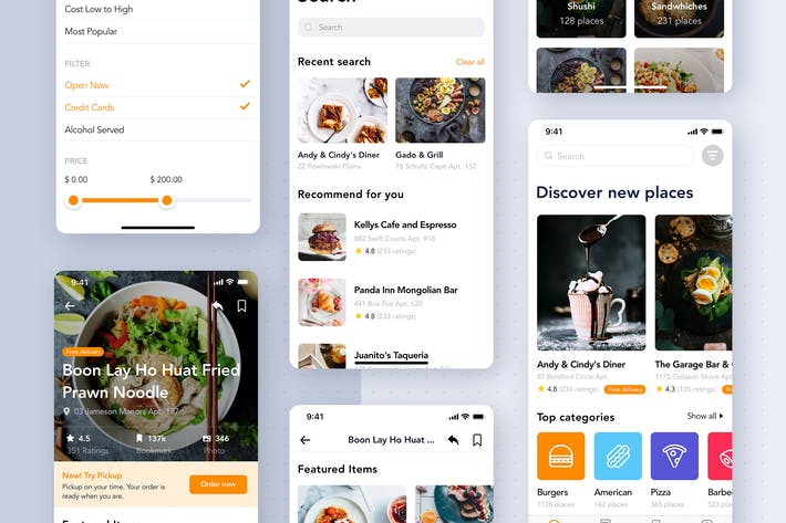 Thumbnail for Food Delivery App UI Kit for SKETCH