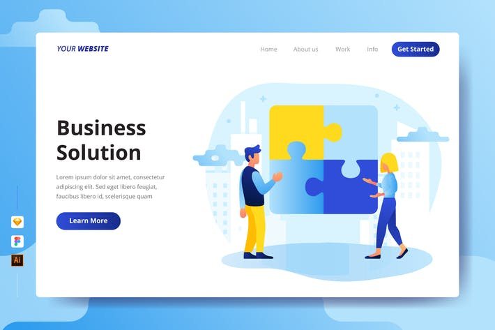 Thumbnail for Business Solution - Landing Page