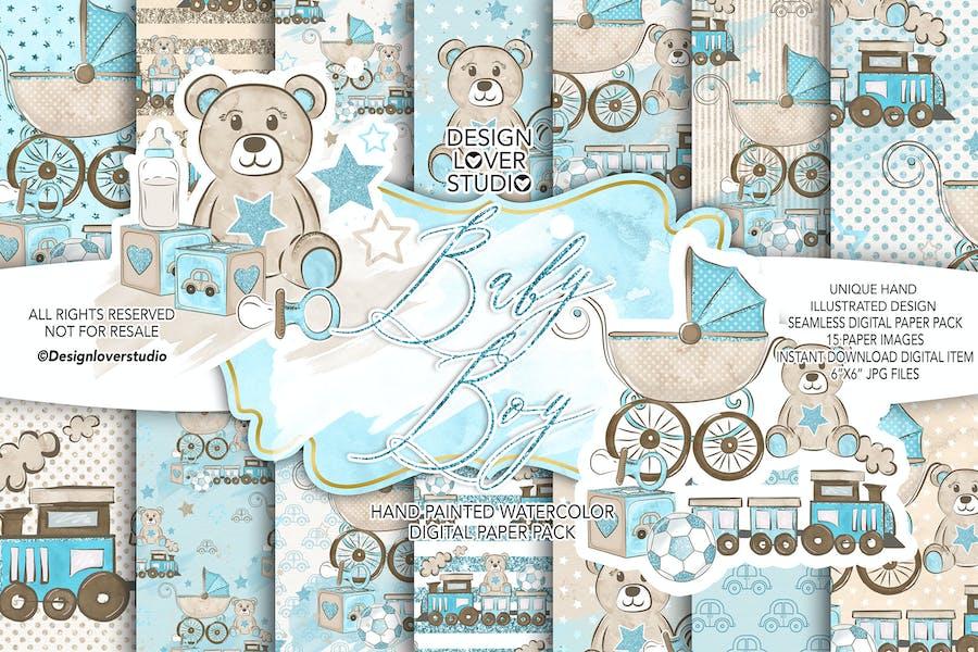 Baby Boy digital paper pack