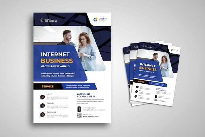 Flyer für Internet-Unternehmen
