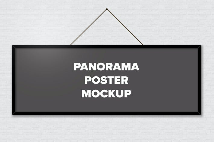 Thumbnail for Poster Frame Mockups - Panorama