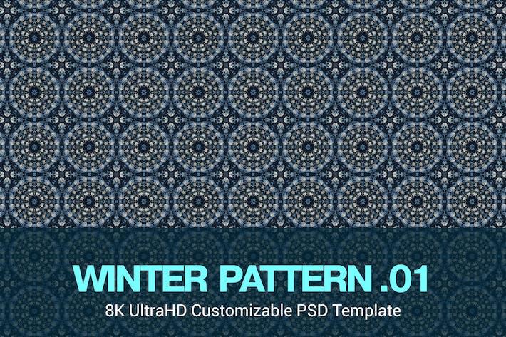 Thumbnail for 8K UltraHD Custom Seamless Winter Pattern Backgrou