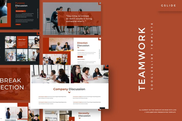 Thumbnail for Teamwork - Google Slides Template