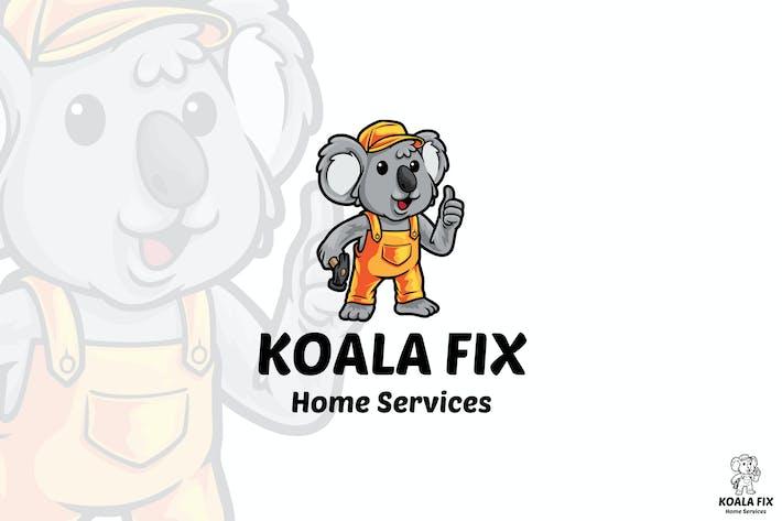 Thumbnail for Koala Fix Mascot Logo