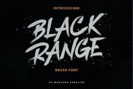 Black Range Brush Font