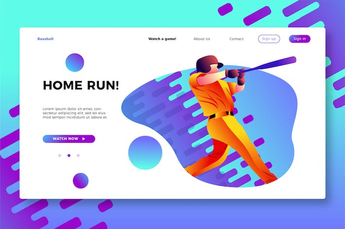 Cover Image For Baseball - Banner & Landing Page
