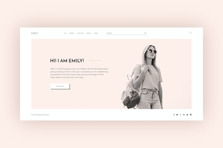 Thumbnail for Emily - Personal Blog PSD Template