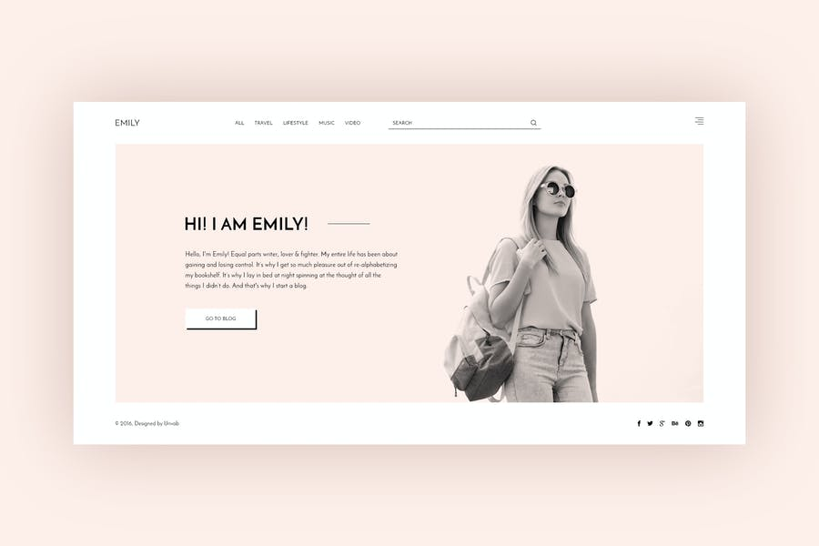 Emily - Personal Blog PSD Template