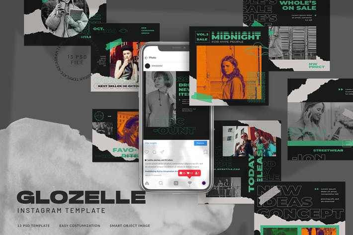 Thumbnail for Glozelle Instagram Stories Fashion Streetwear