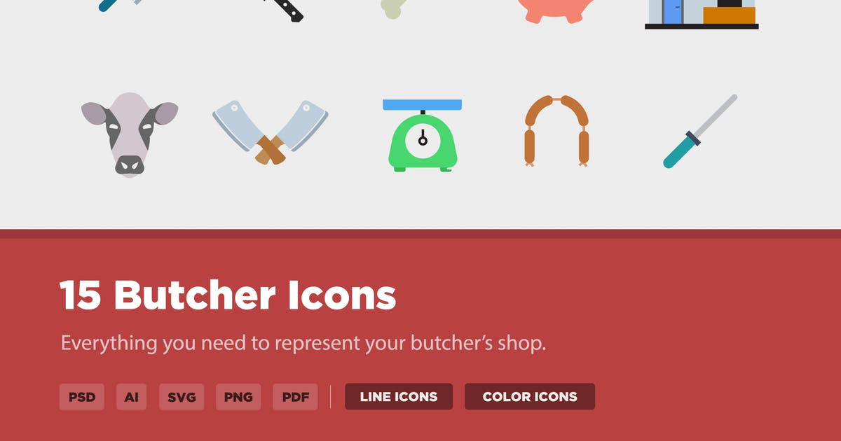 Download 15 Butcher Icons by creativevip