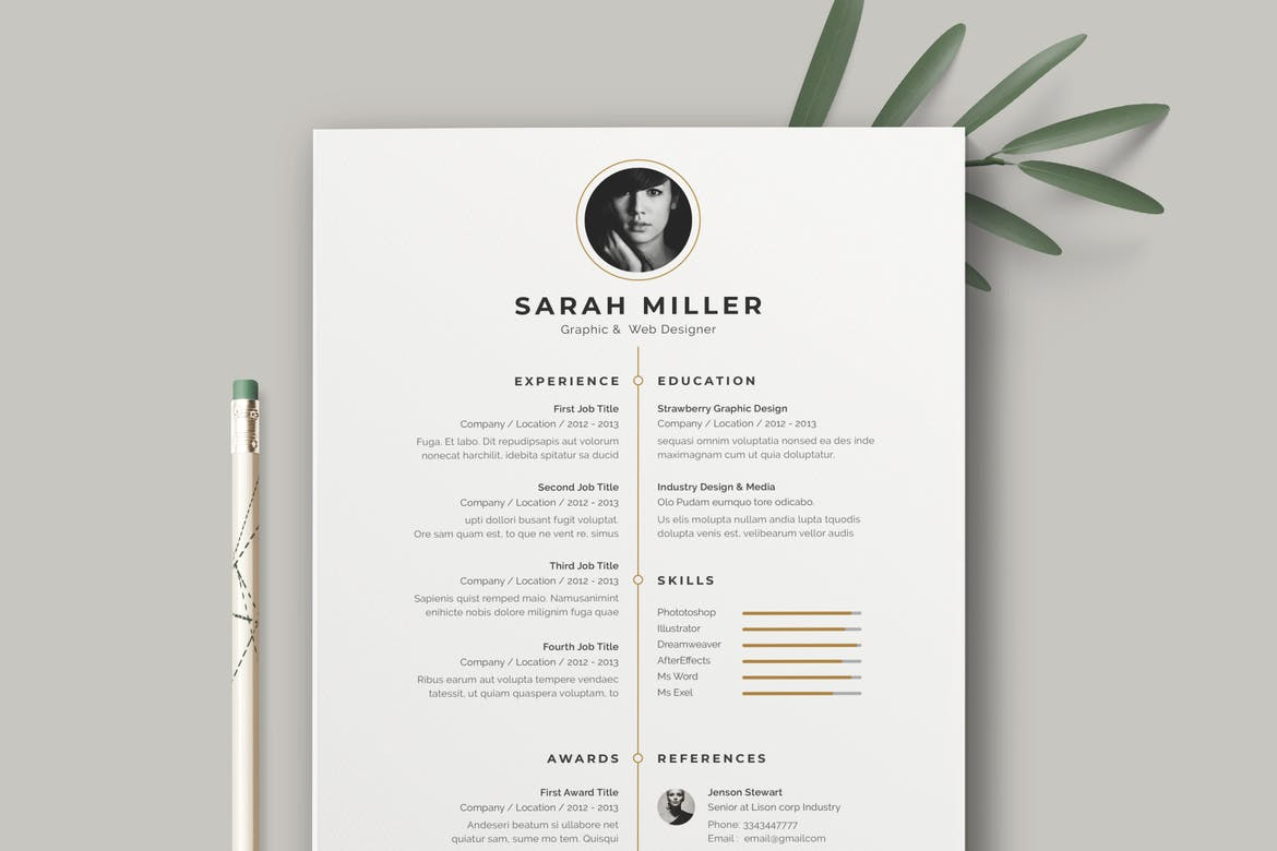 Resume-Template-CV-Simple