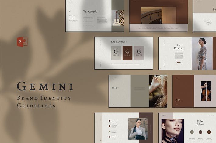 Cover Image For Gemini PowerPoint Brand Guidelines