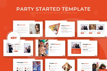 Party Started - Keynote Template
