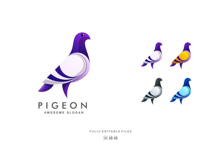 Thumbnail for Pigeon Color Gradient Logo