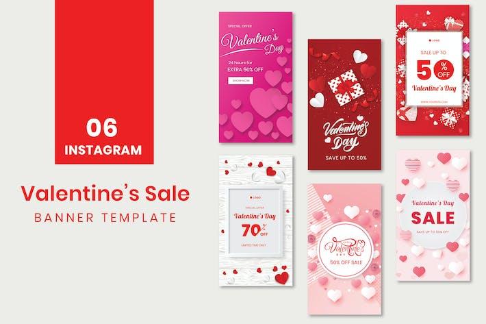 Thumbnail for Instagram Valentine's Sale Banner Template