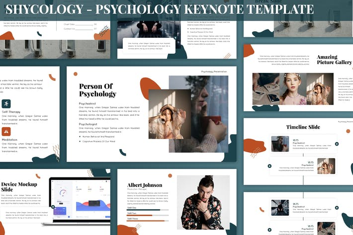 Thumbnail for Shycology - Psychology Keynote Template