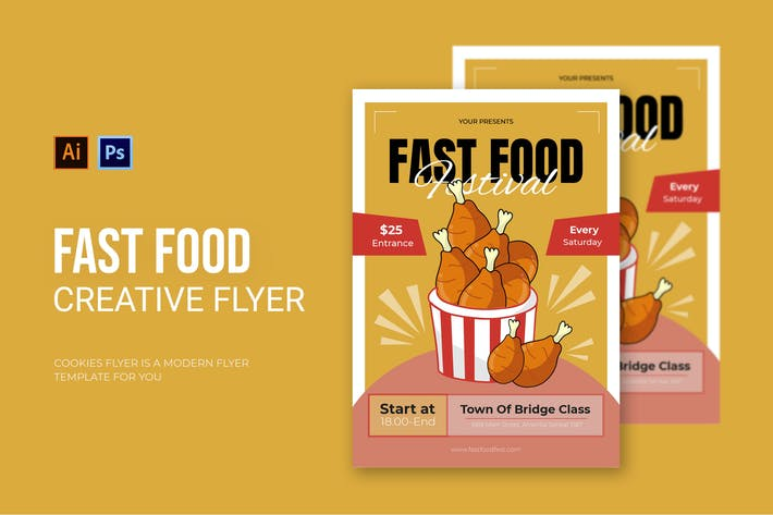 Thumbnail for Chicken Fast Food - Flyer