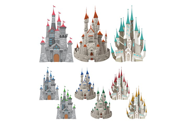 Thumbnail for Set of Medieval Castles in Different Colors