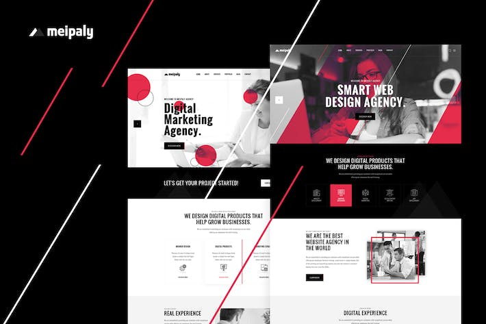 Thumbnail for Meipaly - Digital Services Agency PSD Template