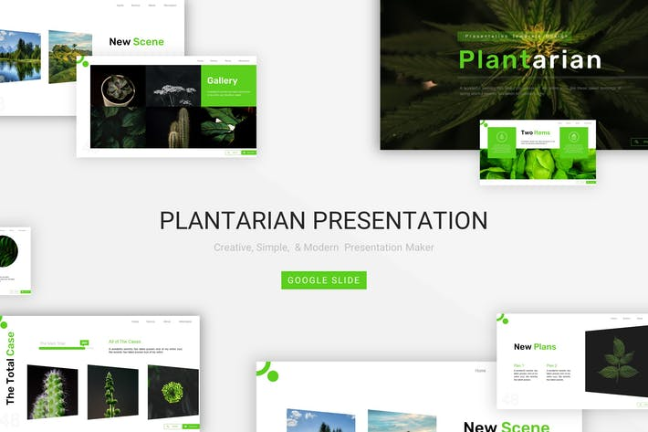 Thumbnail for Plantarian - Google Slide Template