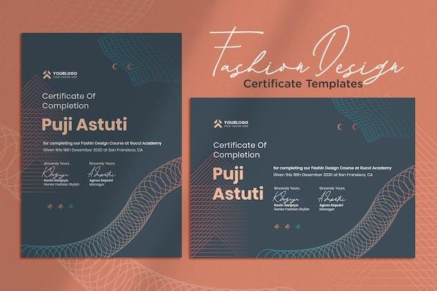Certificate Vol.02 Fashion Course