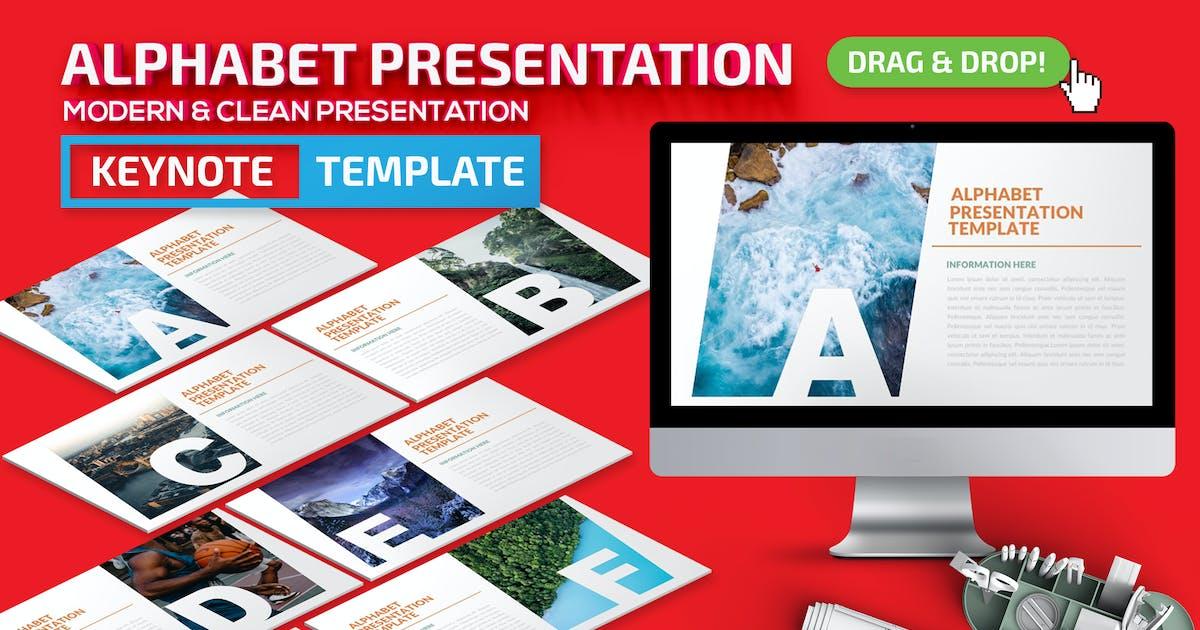Download Alphabet Keynote Presentation Template by mamanamsai