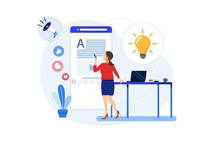 Concepto de Marketing de Contenidos - Marketing Digital