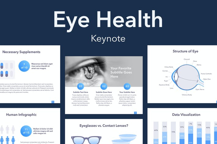 Thumbnail for Eye Health Keynote Template