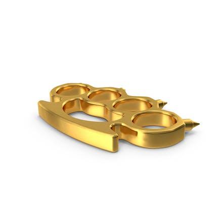 Spiked Golden Brass Knuckles