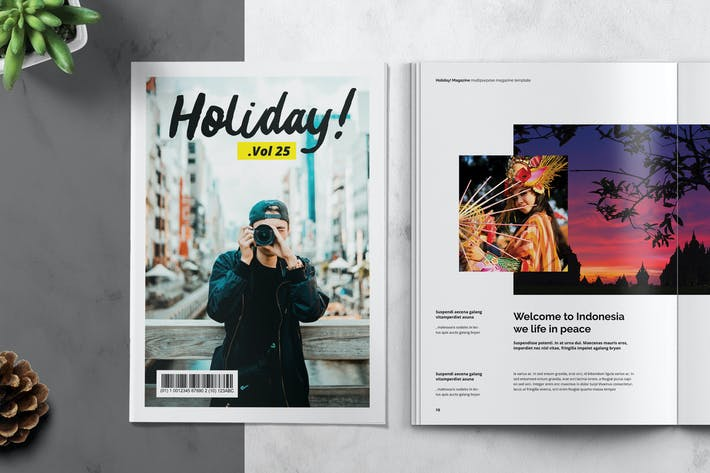 Cover Image For HOLIDAY - Magazine Template