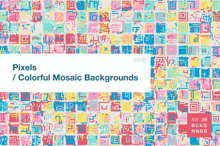 Thumbnail for Pixels | Colorful Mosaic Backgrounds
