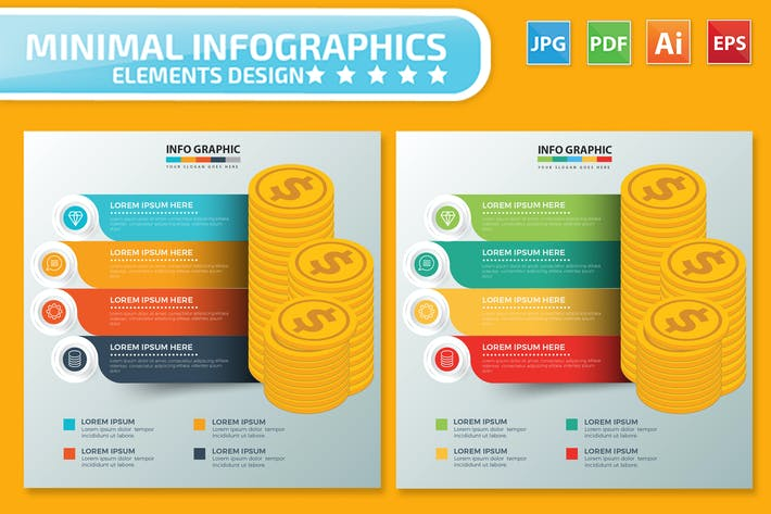 Thumbnail for Money Infographics design