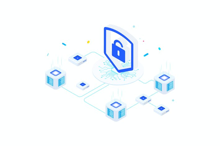 Thumbnail for Security on Blockchain Isometric 1 - FV