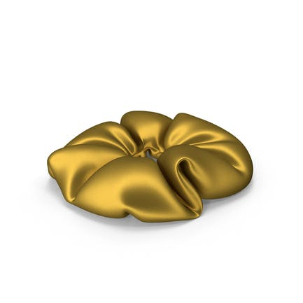 Hair Scrunchie Gold