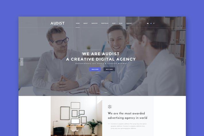 Thumbnail for Audist - Plantilla Moderno HTML5 Porfolio